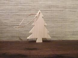 deco bois brut figurines pour sapin de noël à accrocher décoration de noel en