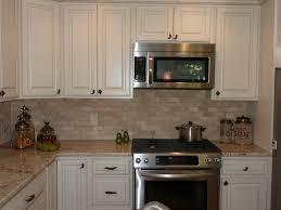 kitchen backsplash height travertine kitchen backsplash transitional with island square