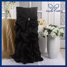 cheap black chair covers compare prices on black polyester banquet chair covers online