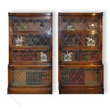pair of oak globe wernicke style stacking bookcase antiques atlas