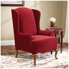Supreme Furniture Chair Sure Fit Stretch Stripe Wingback Chair T Cushion Slipcover Sure
