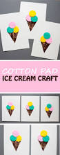 ice cream craft with cotton pads and fork painted cones non toy