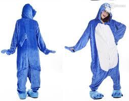blue jumpsuit costume blue shark unisex flannel onesies pajamas kigurumi