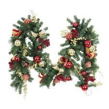 Decorative Garlands Home Christmas Garland Christmas Wreaths U0026 Garland The Home Depot