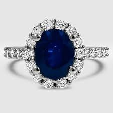 lotus engagement ring sapphire lotus flower diamond ring with side stones in platinum