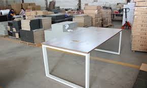 Modern Meeting Table Conference Table Modern Design Meeting Table Desk Metal Wood