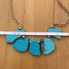 turquoise gem necklace images 50 off jewelry turquoise stone necklace from em 39 s closet on jpg
