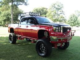 Red Lifted Chevy Silverado Truck - 17 incredibly cool red trucks you u0027d love to own photos