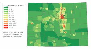 colorado population map colorado population map 1 mapsof