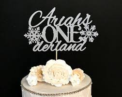 winter onederland cake topper winter wonderland decoration