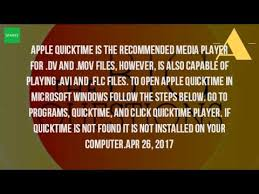 file format quicktime player how do i play a mov file youtube