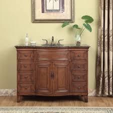 48 single sink vanity with backsplash dover chestnut wood 42 inch vanity with backsplash and granite top