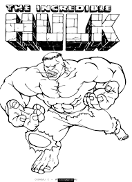 superhero the incredible hulk in action coloring sheet small