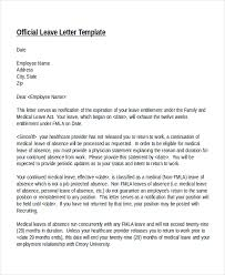 leave of absence letter template from employer letter idea 2018