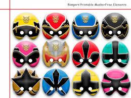 unique rangers printable masks free elements paper party