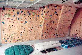 The Hahns Homebuilt Climbing Wall In Our Garage - Home rock climbing wall design