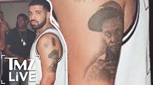 drake gets lil wayne tattoo tmz live youtube