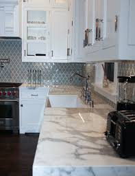 Marble Design For Kitchen by Bluish Grayish Moroccan Style Tiles For The Backsplash With