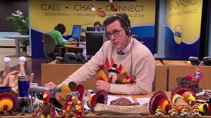 stephen colbert mans butterball turkey hotline for thanksgiving