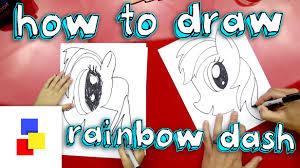 how to draw rainbow dash youtube