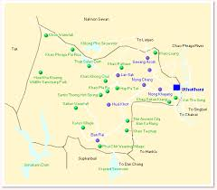 map of province uthai thani area map detailed map of uthai thani by sawadee com