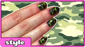 camouflage nail art diy cute and easy nail art tutorials easy