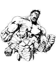 incredible hulk iron man coloring u0026 coloring pages