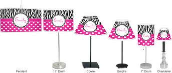 zebra print u0026 polka dots chandelier lamp shade personalized