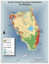 South Florida Map With Cities by My Gis Playhouse Module 10 Dot Density Mapping