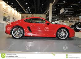 porsche cayman red red porsche cayman at the show editorial stock photo image 33499063