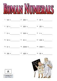 roman numerals teaching ideas