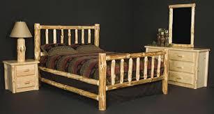 rustic furniture rustic pine log wilderness bed