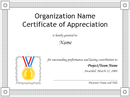 appreciation certificate template u2013 free template downloads