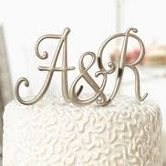 gold monogram cake toppers wedding cake toppers cake toppers things favors
