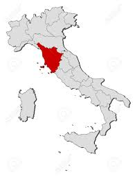 Map Of Tuscany Italy Political Map Of Italy With The Several Regions Where Tuscany