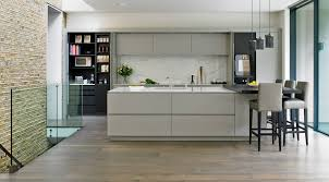 kitchen modern kitchen features grey grained marble island with