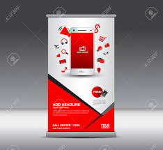 modern roll up banner display poster layout ads mobile