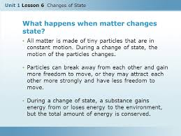What Is Chagne Made Of | unit 1 lesson 6 changes of state ppt download