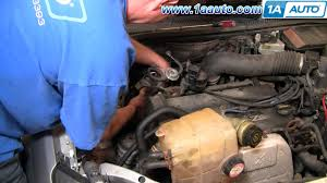 how to install replace alternator ford focus zetec dohc 00 04