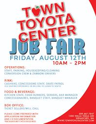 toyota center town toyota center job fair u2014 town toyota center