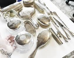 Silver Vanity Table Sterling Vanity Set Etsy