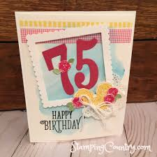 happy 75th birthday stamping country