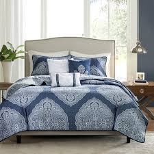 Navy Quilted Coverlet Rebecca 6 Piece Quilted Coverlet Set By Madison Park Hayneedle