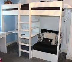 High Sleeper With Futon Stompa High Sleeper Sofa Bed Pull Out Desk Storage