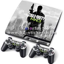 ps3 design customize protective decal for ps3 slim decal with two controller