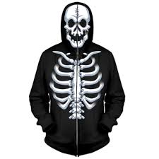 halloween hoodie four seasons boy u0027s halloween costume hoodie jacket skeleton