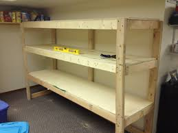 Free Wooden Shelf Bracket Plans by Building A Wooden Storage Shelf In The Basement Youtube