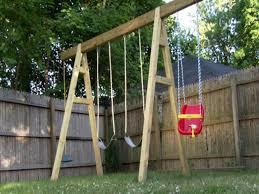 Diy Backyard Swing Set Just A Swingin U0027