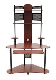 omnirax presto 4 studio desk burnt charred american flag wooden concealment furniture