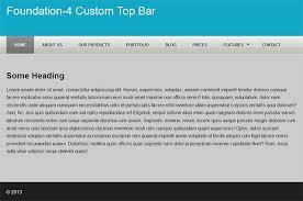 Top Bar How To Customize The Foundation 4 Top Bar